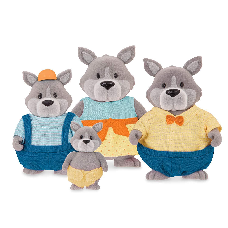 Lil Woodzeez 255-W6462 GrayPaws Wolf Family Set Mehrfarbig