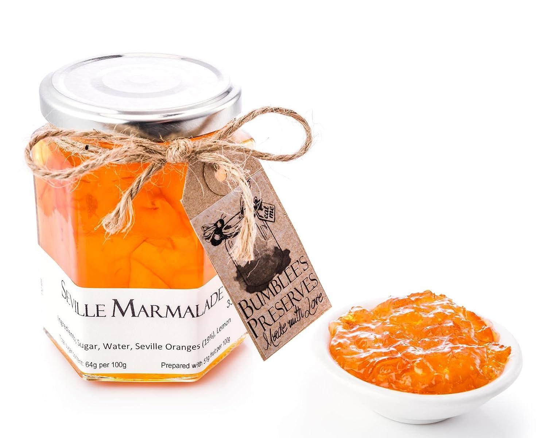 Bumblees | Mermelada artesanal tipo jalea sabor naranja amarga | 330g | Mermelada hecha a mano en Reino Unido | No tiene conservadores ni sabores ...