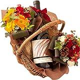 翌日配達お花屋さん ワインと花束 ギフトセット レ・ゼキサゴナルピノ・ノワール