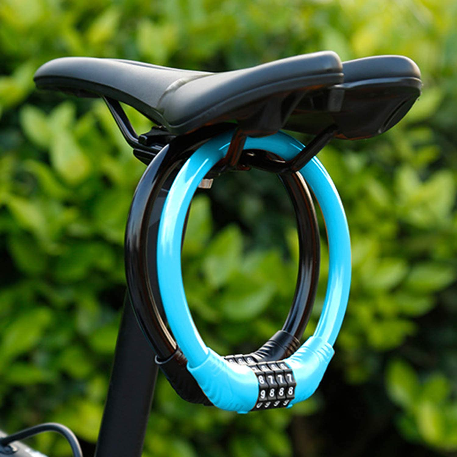 Candado de cable para bicicleta QKURT Security Bike Lock 4 d/ígitos