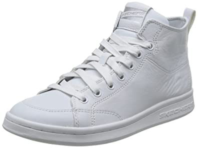 on sale f8c42 6d591 Skechers Omne-Midtown, Baskets Hautes Femme, Blanc (White 730-Wht)