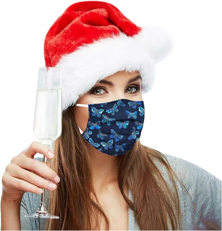 Erwachsene 20 St/ücke Einweg Mundschutz Mund Nasenschutz Mit Weihnachten Motive 3 Lagig Atmungsaktive Mund-Tuch Bandana Halstuch Schals f/ür Damen M/änner