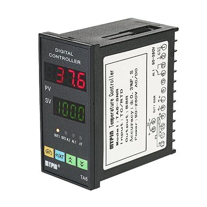 KKmoon 48mmX96mmX80mm 90-260V Temperatura Controlador Inteligente Dual 4 Digital Pantalla LED ℃ / ℉