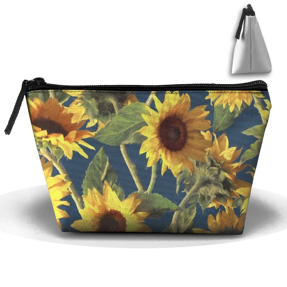 e07bffc78bd7 outlet CHC40 Sunflowers On Dark Blue Toiletry Bag Portable Travel ...