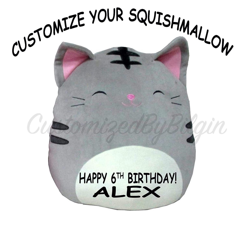 504003009a40 Amazon.com: Customized Squishmallow Original Kellytoy Tally The Tabby Cat  Grey 13
