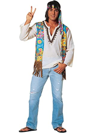 70s Costumes: Disco Costumes, Hippie Outfits Mens Plus Size Hippie Costume $31.57 AT vintagedancer.com