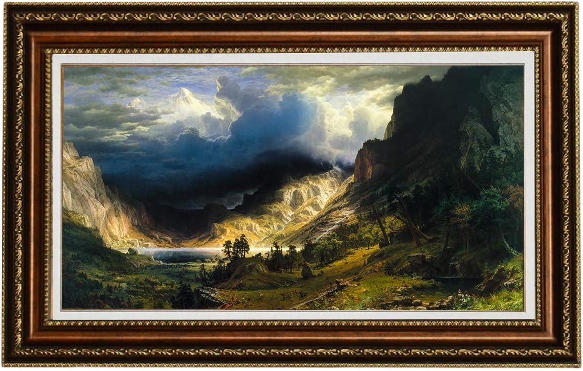 Storm over the Sierra Nevada by Albert Bierstadt Giclee Fine ArtRepro on Canvas