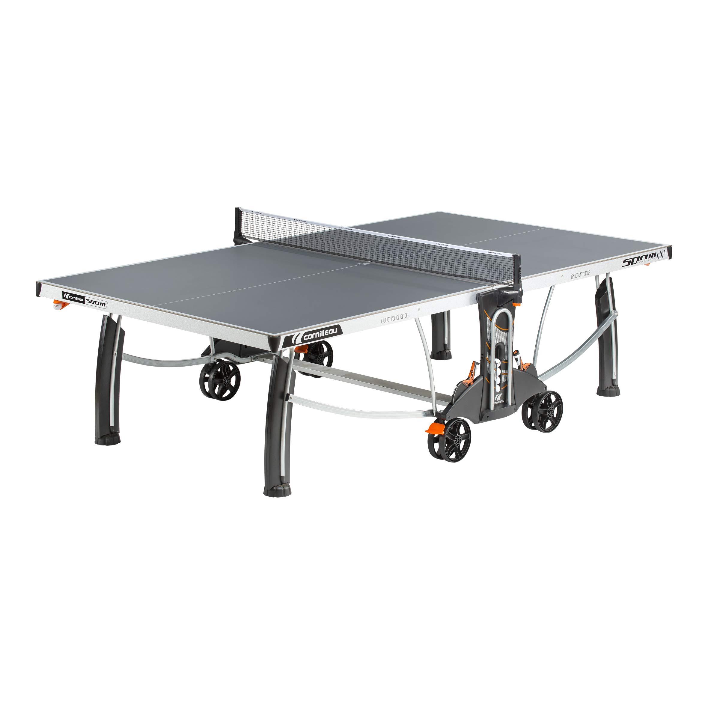 Cornilleau 500M Crossover Indoor/Outdoor Gray Table Tennis Table