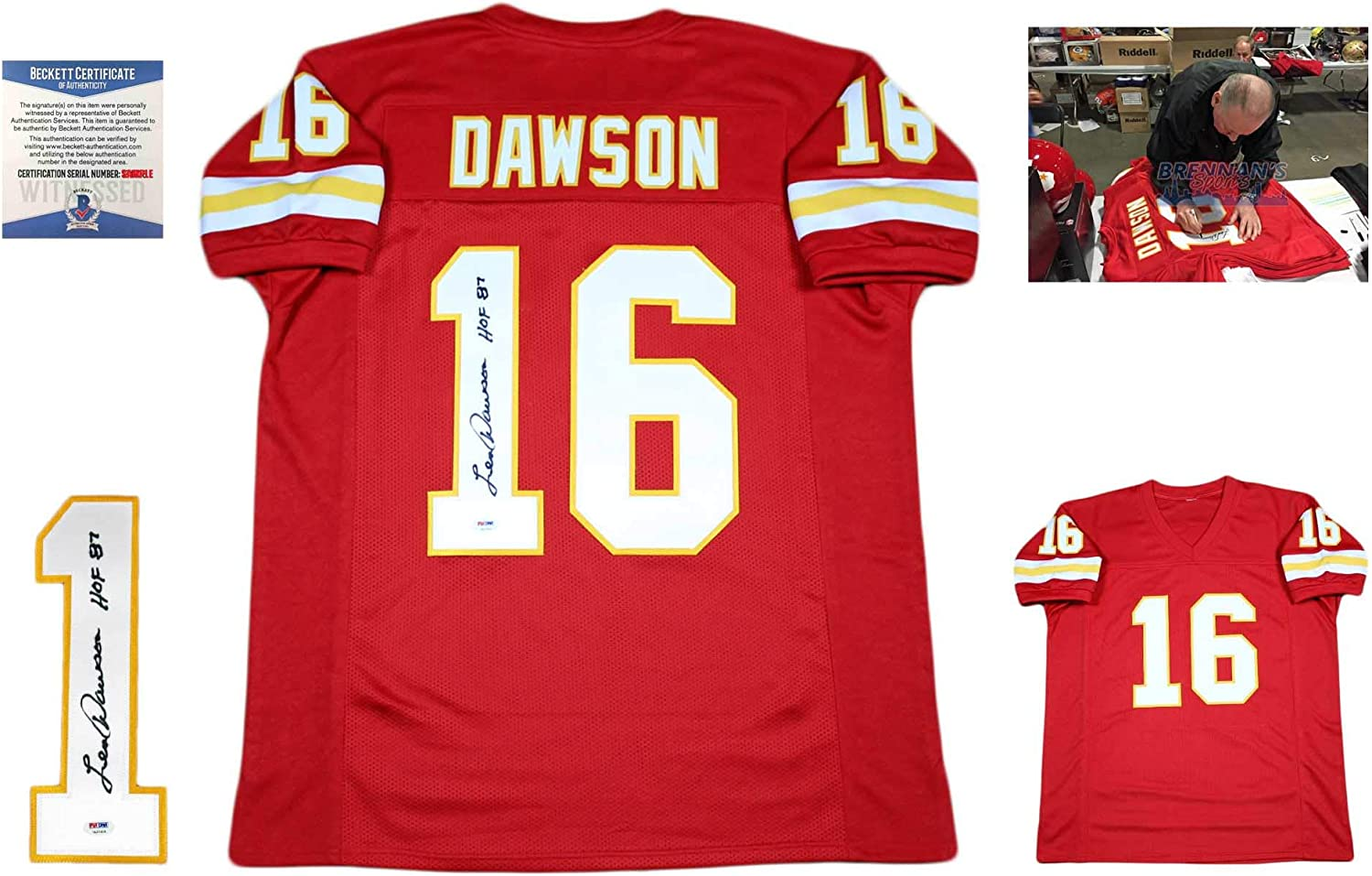 Len Dawson Autographed SIGNED Jersey - Beckett Authentic - Red