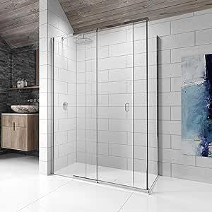 Kudos Pinnacle 8 deslizante mampara de baño 1700 x 700: Amazon.es ...