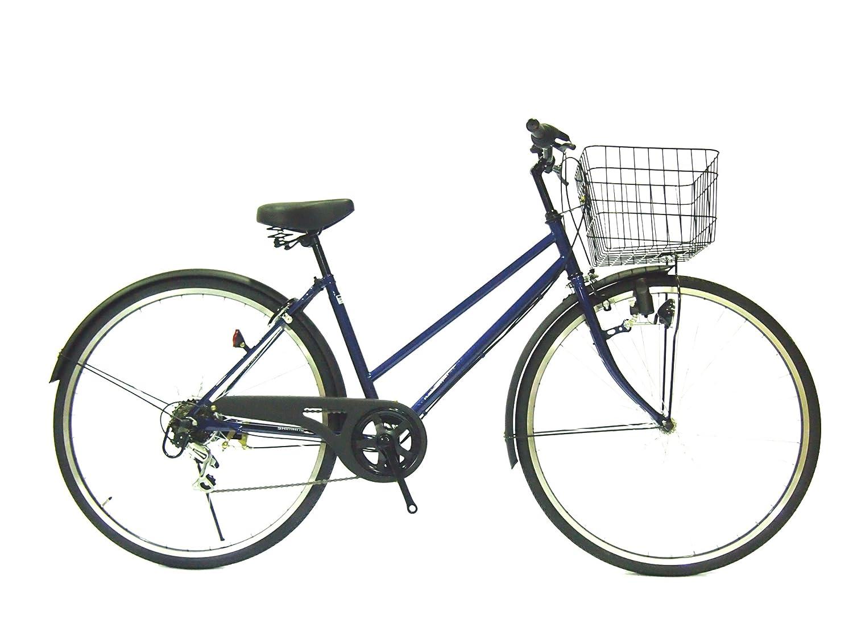 Lupinusルピナス 自転車 27インチ LP-276TD シティサイクル ダイナモライト シマノ製外装6段ギア ブラックリム 100%完成車 B00WS5N3TK カプリブルー×マッドブラック カプリブルー×マッドブラック
