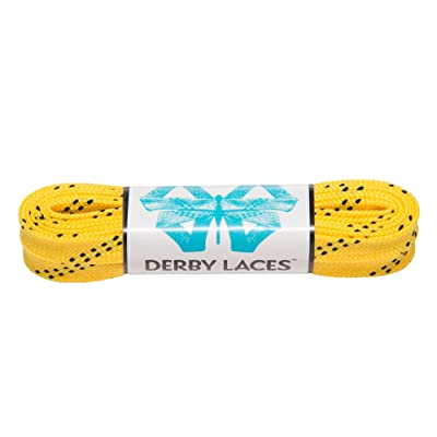 Derby Laces Yellow 60 Inch Waxed Skate Lace for Roller Derby, Hockey and Ice Skates, and Boots : Sports & Outdoors
