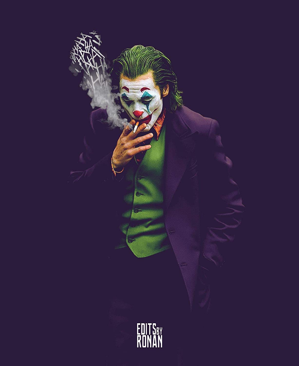 United Mart Poster Joker Joaquin Phoenix Cesar Romero Smoking Movie 2019 Cover Poster Size 12 x 18 Inch Rolled Poster