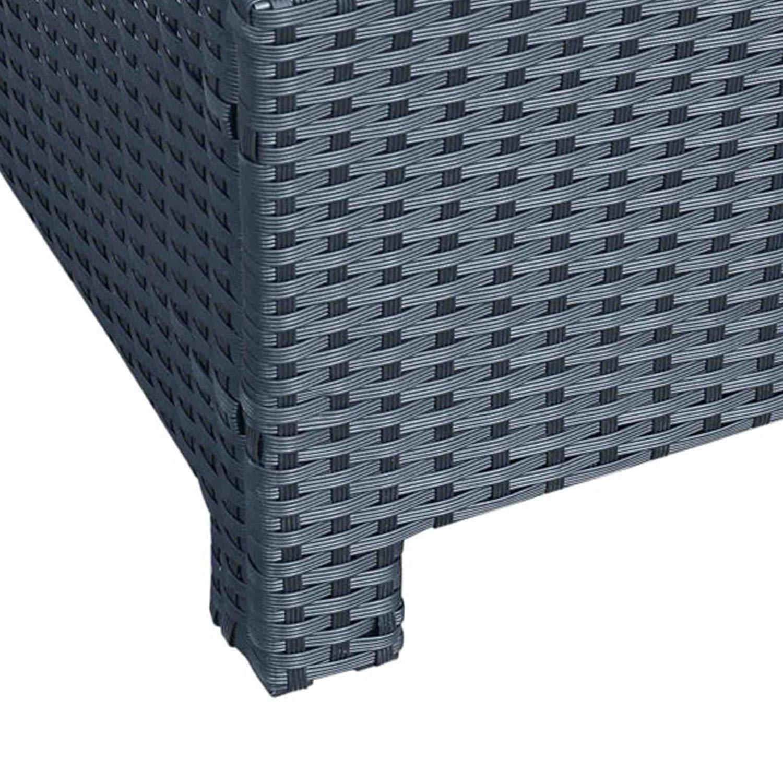 50 kg Noir Outsunny Table Basse de Jardin Plateau Verre tremp/é 5 mm rotin tress/é 85 x 50 x 39cm Max