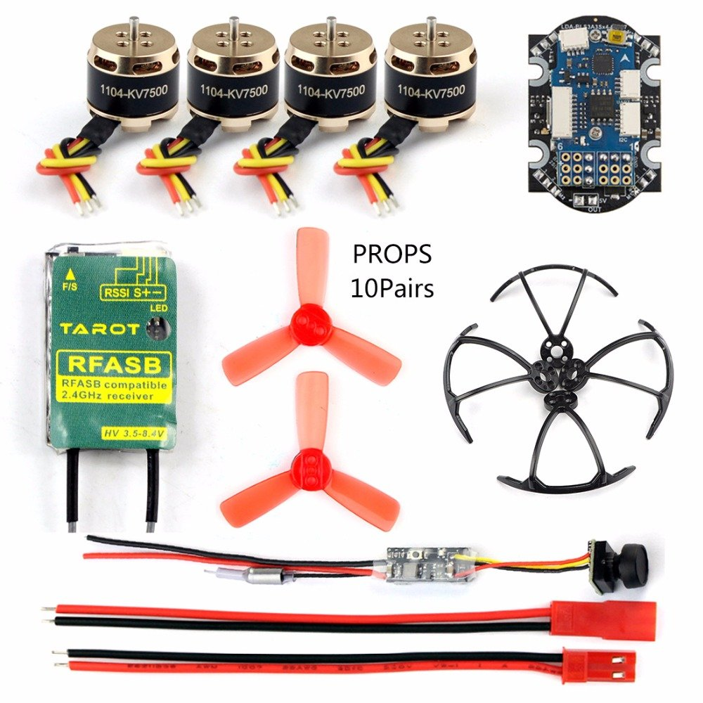 Tarouge Rfasb Tx  GEHOO DIY RC Mini Racer Drone kit with X9D Receiver 25mw 800TVL VTX+Camera 4in1 ESC F3 Flumière Controller Motor