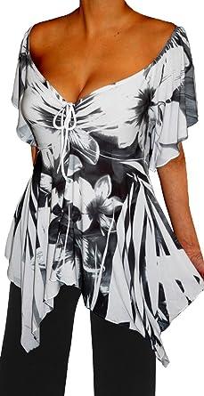 ae9f19aea2a Funfash UT9 Women A Line Empire Waist White Black Top Shirt Size Large 9 11