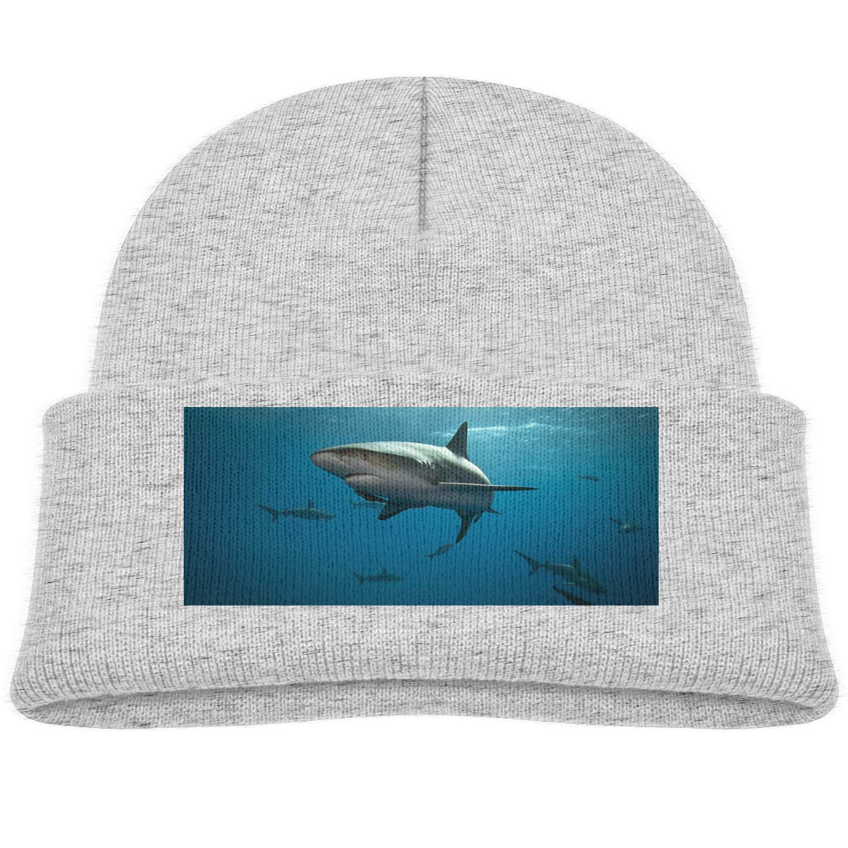 Kids Knitted Beanies Hat Shark Winter Hat Knitted Skull Cap for Boys Girls Black kidhome