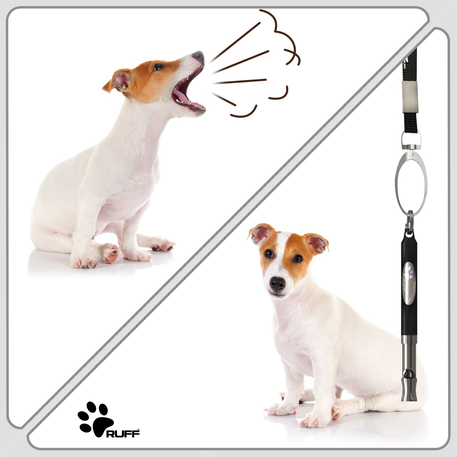 Ruff Dog Whistle To Stop Barking Train Dogs Safely Fast Best Ultrasonic Pc Related Power Supplies And Control New Improved Anti Loss Version Adjustable Pet Training Obedience Repellent Aid
