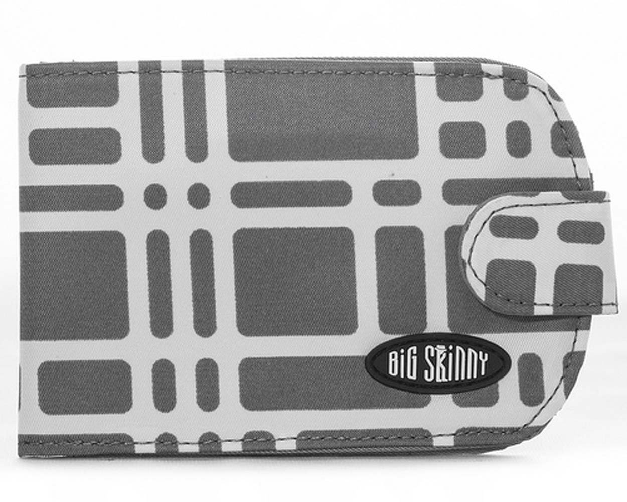 Big Skinny Women's Taxicat Bi-Fold Slim Wallet, Holds Up to 25 Cards, Graphite Cobble