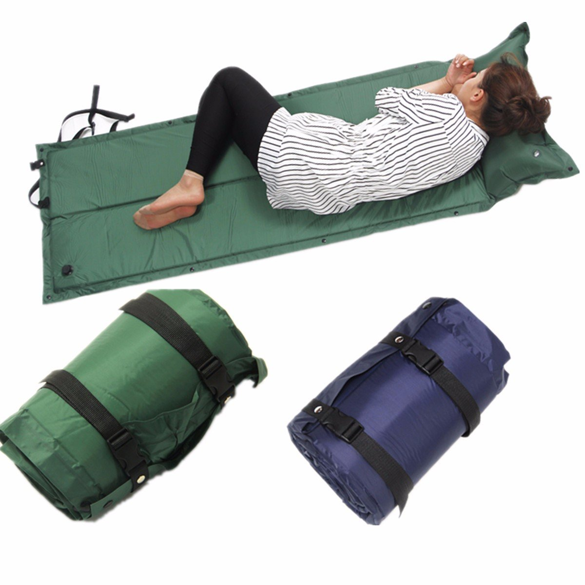 ShopSquare64 IPRee 183x60x2.5cm Auto-Gonflable Air Mattress Camping Tapis de Couchage Anti-humidité