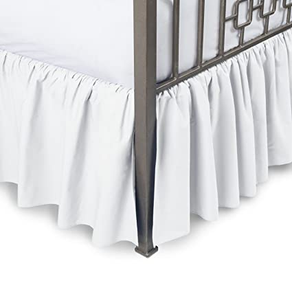 Amazon Com Harmony Lane Ruffled Bed Skirt With Split Corners
