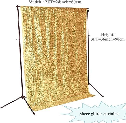 Amazon.com: Telón de fondo de cortinas doradas con ...
