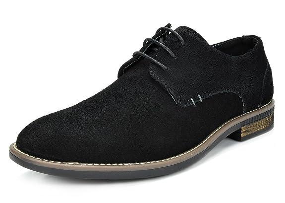 Bruno Marc Men's URBAN-08 Black Suede Leather Lace Up Oxfords Shoes - 12 M US