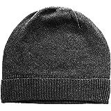 da68265fd Amazon.com: Black Pure 100% Cashmere Beanie Hat Unisex: Clothing