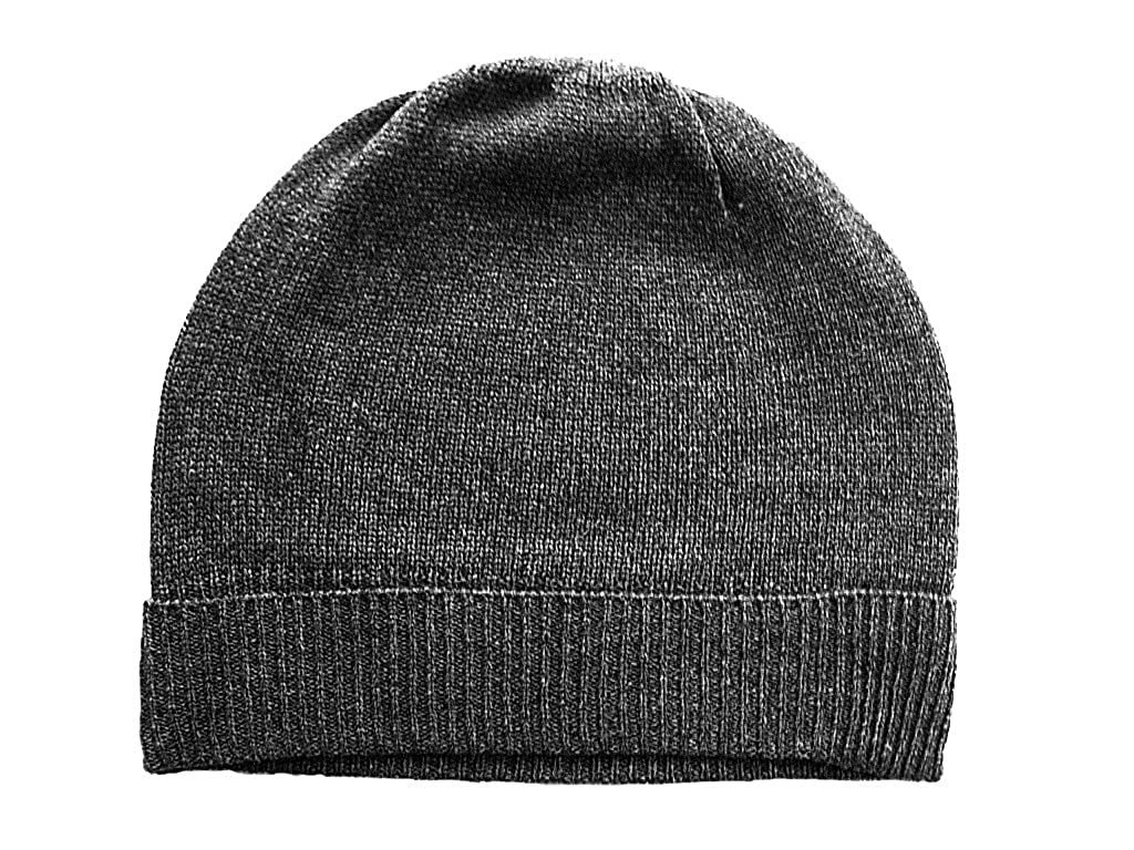 afb5a7b2b81 Feeling Pampered Gray Pure 100% Cashmere Beanie Hat Unisex at Amazon  Women s Clothing store  Cashmere Hat For Men