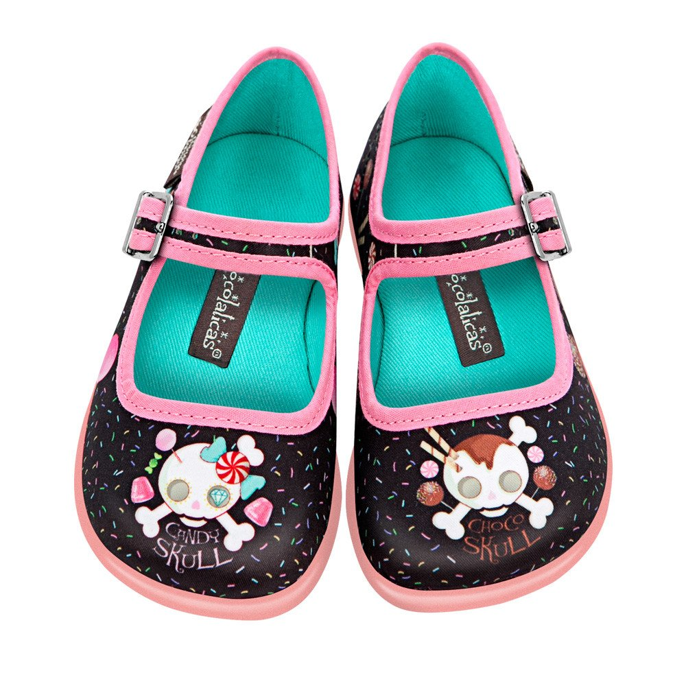 Hot Chocolate Design Mini Chocolaticas Canvas Ballerinas Girls Mary Jane Flat Shoes