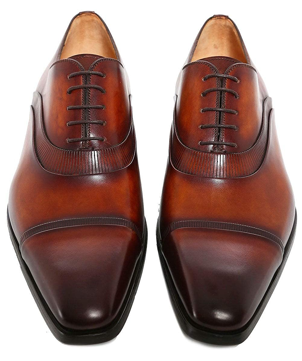 Magnanni Herren Leder-Donner-Oxford-Schuhe Cognac Cognac Cognac Cognac f18fb2