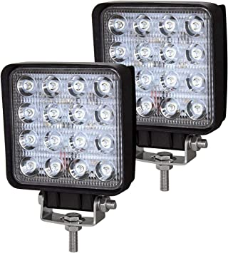 SUV Offroad Vehicles Car LED Spotlights Auxiliary Lights Additional Headlights IP67 Waterproof Reversing Lights Truck Tractor Hengda 6 x 72W LED Work Lights 12V Headlights for Car