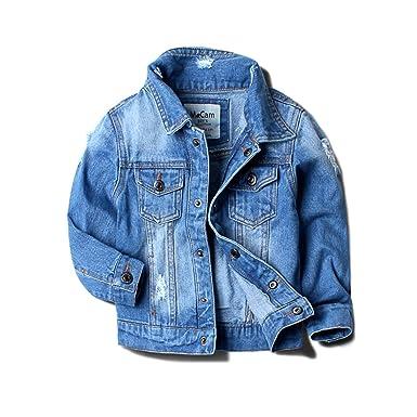 4db207617181 Baby Boy Denim Jacket Leisure Coat Children Kids Jeans Boys Girls ...