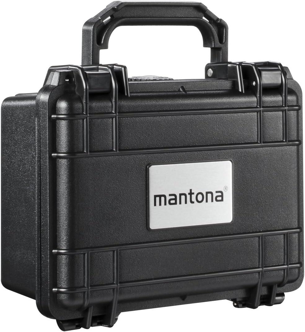 Mantona 18507 - Maletín hermético de protección para Exteriores (tamaño S), Negro