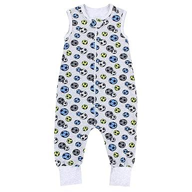 f612434b93ce TupTam Unisex Babyschlafsack mit Beinen Unwattiert, Farbe  Bälle Blau Grün Grau,  Größe