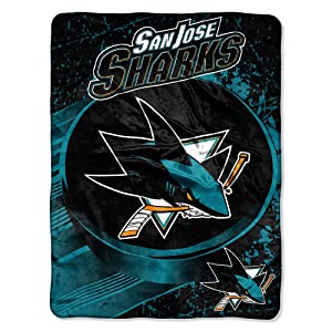"Officially Licensed NHL ""Ice Dash"" Micro Raschel Throw Blanket, 46"" x 60"""