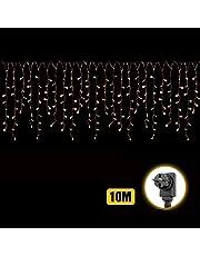 10m 400er LED Luci Stringa 48 stringe, 50-80cm/ogni + 3m Cavo di alimentazione, stringa decorativa LED con sicurezza 31V