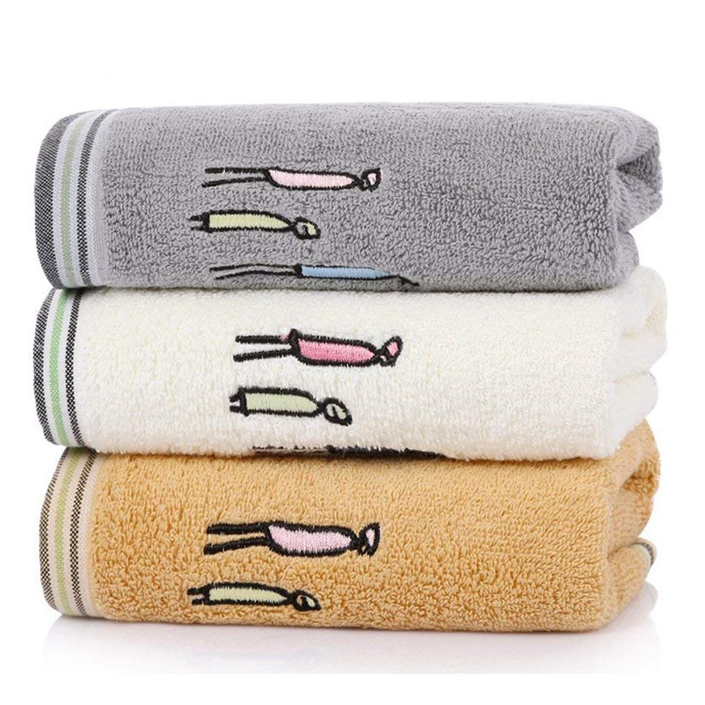 LifeWheel Cotton Gause Muslin Hand Towels(3 Pack,16''x 28'') - Absorbent Durable Towels Home Outdoor Use (color5)