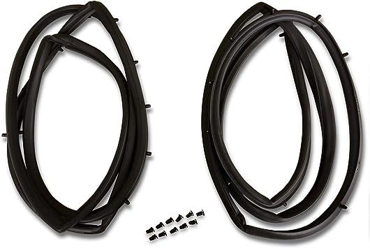 Set of 2 Full Metal Door Seal Kit Pair for Jeep CJ /& Wrangler YJ 1976-1995 Make Auto Parts Manufacturing
