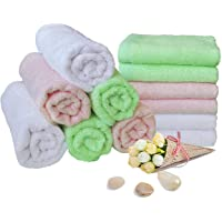 12 Pack LZMIN Organic Reusable Hypoallergenic Ultra Soft and Absorbent Face Baby Wipes