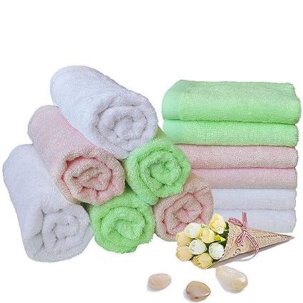 Toallitas para bebés Toallas de baño de bambú Toallitas húmedas reutilizables orgánicas - Hipoalergénico Toalla ultrasuave