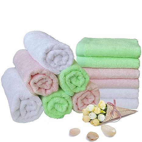 Toallitas para bebés Toallas de baño de bambú Toallitas húmedas reutilizables orgánicas - Hipoalergénico Toalla ultrasuave y ...