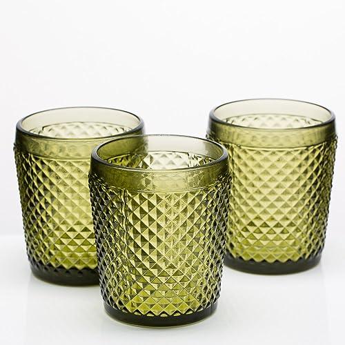 Richland Diamond Candle Holder Dark Green Set of 48