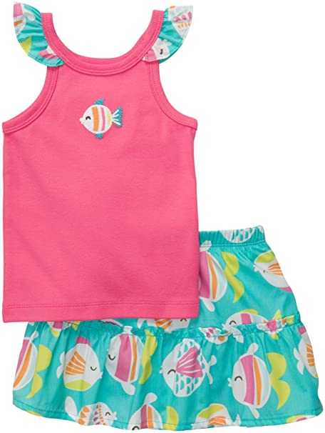 Amazon.com: De Carter bebé Niñas Infantil Falda Set: Clothing
