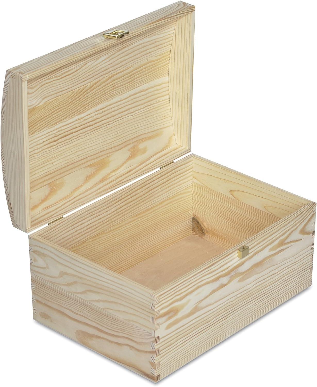 Creative Deco Grande Cofre Caja Madera | 34,5 x 25 x 19,2 cm | con ...