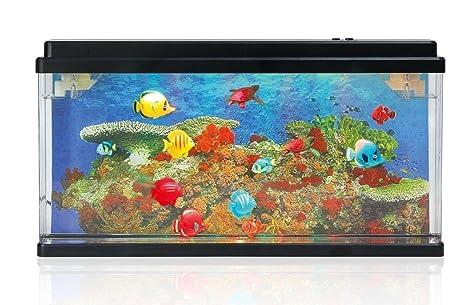 Lightahead® Artificial océano mundo peces LED Acuario (17,5 x 10 cm)