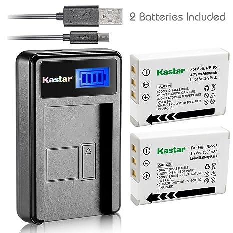 Amazon.com: Kastar Cargador USB, para FNP-95 – 2 de Batería ...