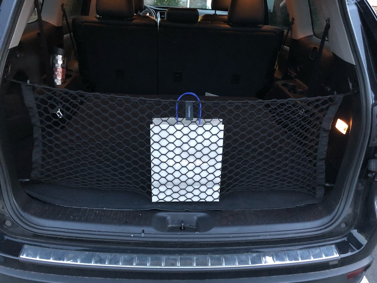 Envelope Style Trunk Cargo Net for Toyota Highlander Highlander Hybrid 2014 2015 2016 2017 2018 Trunknets Inc