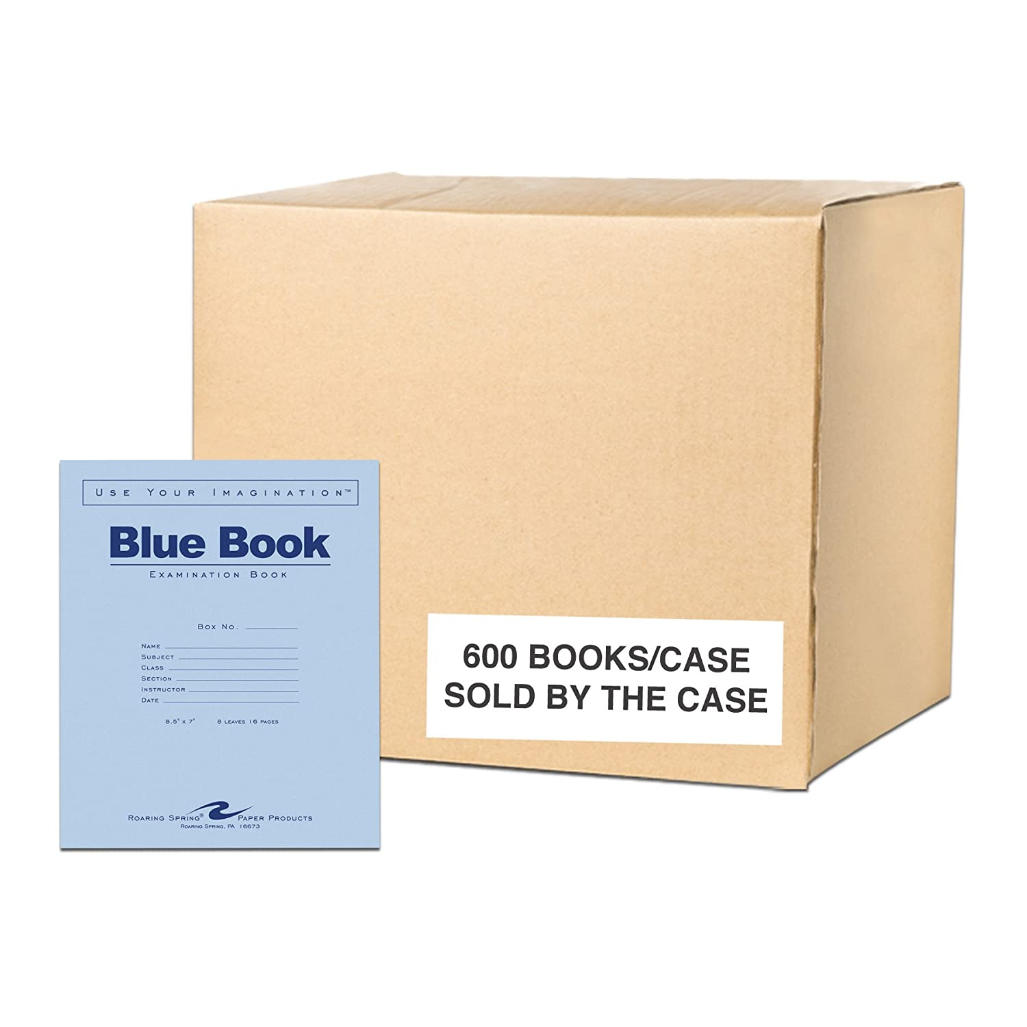 Roaring Spring Blue Exam Book, 8.5 x 7, 6 sheets/12 pages 8.5 x 7 Roaring Spring Paper Products 77511
