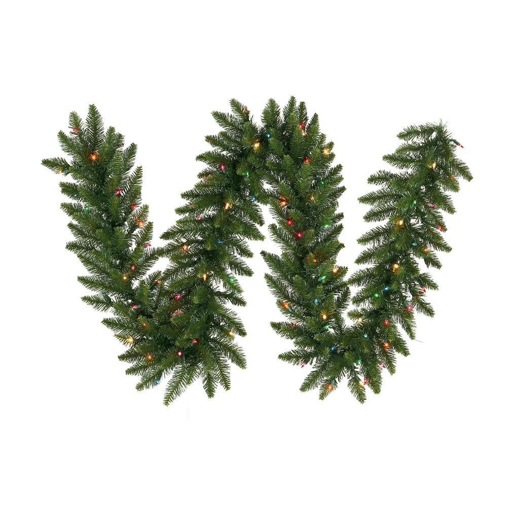 Vickerman A861128LED Pre-lit Grand Teton Artificial Garland with 450 Multicolored LED Lights, 25 Feet